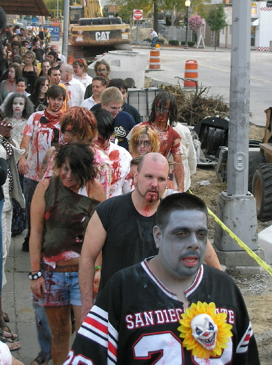 zombie walk detroit invades royal oak